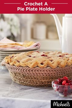 Keep your pies nice and warm in this cozy pie carrier. What a perfect hostess gift this holiday season! Find the yarn of your dreams at your local Michaels and get the pattern for this project on Michaels.com.
