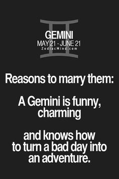 Gemini -reasons to marry them