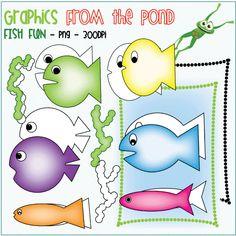 Fish Fun - a set of 18 individual .png files