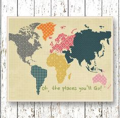 Oh the Places you'll Go Dr Seuss  Family Room par LilChipie sur Etsy, $14.00
