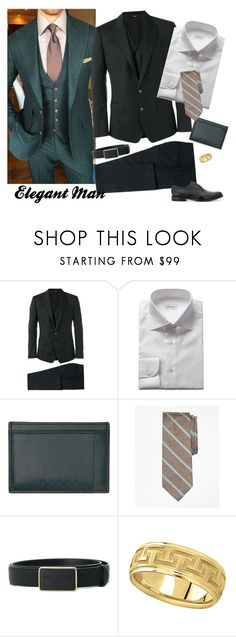 """Elegant Man"" by selene-cinzia ❤ liked on Polyvore featuring Dolce&Gabbana, Brioni, Marni, Brooks Brothers, Allurez, Pierre Balmain, men's fashion and menswear"