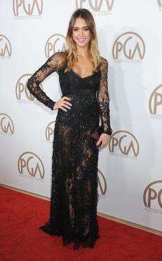 La actriz Jessica Alba apostó por el negro en la entrega de los premios del…