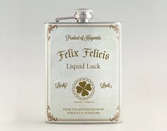 Magical Potion Flasks - This New Year's Eve Appropriate Liquid Luck Liquor Hip Flask is Harry-Themed