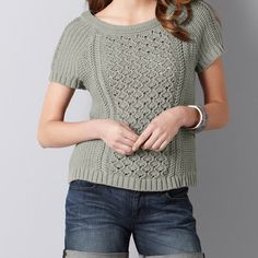 Loft Short Sleeve Sweater *** first picture is not the color just the style!! Color is cream! Great for work. Like new LOFT Tops