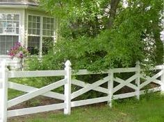 Prestige Vinyl Fence by Chesterfield Fence and Deck. The leader in top quality, long-lasting Vinyl Fence, American Made. Front Yard Design, Front Yard Fence, Front Yard Landscaping, White Picket Fence, White Fence, Picket Fences, Garden Gates, Garden Beds, Back Gardens