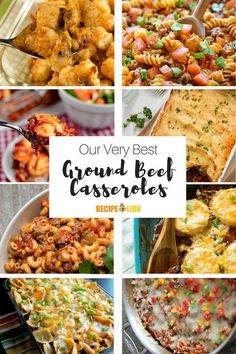 Your family will be running to the table for one of these tasty ground beef casseroles! With comfort food this delicious, you won& want to wait. Best Casserole Recipes Ever, Beef Casserole Recipes, Cabbage Casserole, Ground Beef Casserole, Casseroles With Ground Beef, Mexican Casserole, Hamburger Casserole, Noodle Casserole, Traditional Meatloaf Recipes