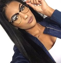Vintage Inspired Classic Half Frame Glasses Classic half frame that features clear lenses for a sharp sophisticated look. An iconic frame that will have you looking fashionable in any situation. Frame is made with tortoise shell acetate brow an Half Frame Glasses, Fake Glasses, New Glasses, Girls With Glasses, Glasses Online, Makeup With Glasses, Glasses For Round Faces, Circle Glasses, Glasses Style