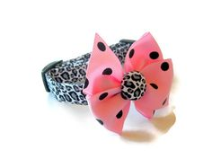Leopard Cheetah Dog Collar size Extra Small by jeanamichelle, $14.00