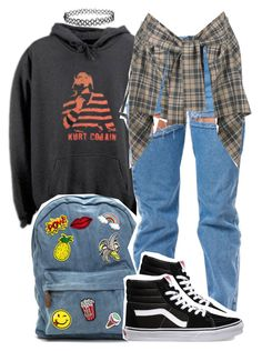 """Untitled #948"" by trinsowavy ❤ liked on Polyvore featuring Vans and Vivienne Westwood Anglomania"