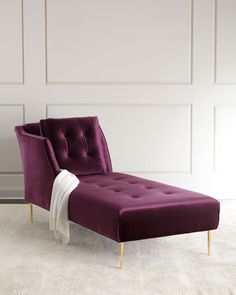 Shop Salon Button-Tufted Chaise from Haute House at Horchow, where you'll find new lower shipping on hundreds of home furnishings and gifts. Furniture Making, Living Room Furniture, Home Furniture, Furniture Design, Furniture Chairs, Accent Furniture, Antique Furniture, Furniture Ideas, Casa Milano
