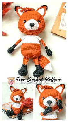 Free Crochet, Crochet Hats, Step By Step Crochet, Cute Fox, Learn To Crochet, Free Pattern, Crochet Patterns, Homemade, Diy
