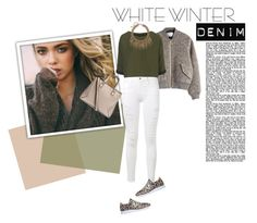"""Winter Gear"" by lisalockhart ❤ liked on Polyvore featuring H&M, Acne Studios, Frame Denim, Topshop, New Balance, women's clothing, women's fashion, women, female and woman"