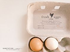 Fill in the blank Egg Carton Stamp - Chicken Stamp - Fresh Eggs Stamp - by SubstationPaperie