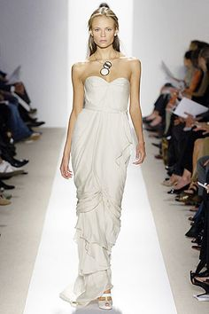 J. Mendel Spring 2007 Ready-to-Wear Fashion Show - Freja Beha Erichsen