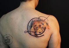 tayfunbezgin: Lion illustration tattoo #tayfunbezgin #tattoo #...