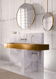 Badezimmer aus Marmor und Gold #badezimmer #interiordesign #einrichtungsideen