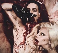 Countess and donovon American Horror Story Series, Ahs Hotel, Lady Gaga Pictures, Woman In Gold, Gone Girl, Evan Peters, Matt Bomer, Coven, Series Movies