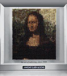 Мона Лиза направена од 2.156 макари во разни бои http://www.kafepauza.mk/art-i-dizajn/mona-liza-napravena-od-2156-makari-vo-razni-boi/