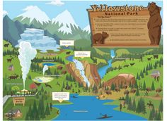 Printable Yellowstone National Park Map For Kids #Travel #Maps #Vacation #RoadTrips #RoadTrip
