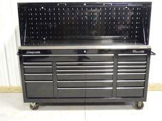 Snap On Black Classic 96 Tool Box, Stainless Steel Top & Hutch Tool Organization, Tool Storage, Tool Box, Kitchen Appliances, Stainless Steel, Tools, Classic, Ebay, Black