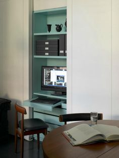 Concealed sea-green office
