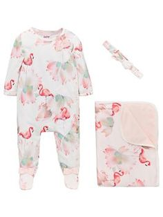 Baker By Ted Baker Baby Girls Flamingo Sleepsuit, Blanket & Headband - Off White, Off White, Size - Off White - Newborn S Girls, Baby Girls, Flamingo Outfit, Ted Baker Baby, Baby Clothes Sale, Baby Sale, Free Baby Stuff, Go Shopping, Baby Wearing