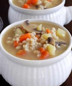 Mushroom And Barley Soup plus 9 other Healthy Soup recipes to Fill You Up! #healthy