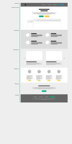 web design blueprint #flatdesign