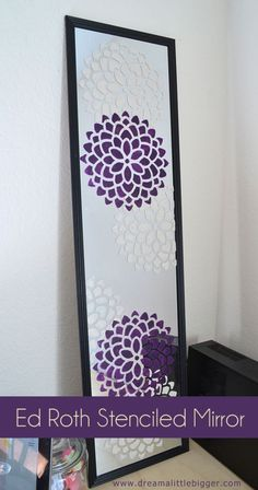 DIY Teen Room Decor Ideas for Girls | Ed Roth Stenciled Mirror Tutorial | Cool Bedroom Decor, Wall Art & Signs, Crafts, Bedding, Fun Do It Yourself Projects and Room Ideas for Small Spaces http://diyprojectsforteens.com/diy-teen-bedroom-ideas-girls