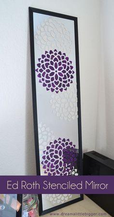 DIY Teen Room Decor Ideas for Girls | Ed Roth Stenciled Mirror Tutorial | Cool Bedroom Decor, Wall Art