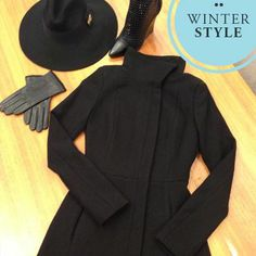 COAT CHECK.... Stay warm & stylish this Winter in our Bray Jacket $320, Felicity Fedora $70, Valentina Wedges $180 & Manhattan Leather Gloves $60, all available in store now Xx