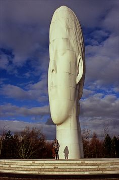 "Jaume  PLENSA  _ ""  ˚Dream  "" _  a sculpture and a piece of public art by Jaume Plensa in Sutton, St Helens, Merseyside - England"