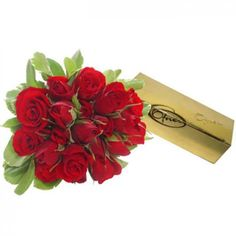 Chocolate and Roses Gift Set to Brazil Order Flowers Online, Rose Gift, Brazil, Roses, Chocolate, Gifts, Presents, Pink, Rose