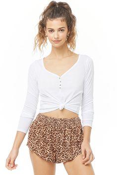 280613d82c5b Women's Leopard Print Short Sleeve Crewneck T-Shirt - A New Day ...