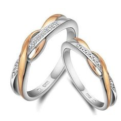 The 925 Sterling Silver Twist Wedding Matching Rings with White and Yellow Gold Plated is perfect for a gift or a treat for yourself. Buy more fashion jewelry at Bellast. Antique Wedding Rings, Wedding Anniversary Rings, White Gold Wedding Rings, Yellow Gold Rings, Silver Rings, Wedding Bands, Silver Jewellery, Diamond Jewelry, Fine Jewelry