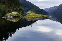 Henangervatnet - One calm evening in the countryside of west coast Norway.