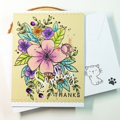 https://flic.kr/p/R6oof6 | Sending Thanks on Kraft | Making some thank you cards with my new flower stamp that I got for Christmas! :) Used products: Concord & 9th - Hello Lovely Simon Says Stamp - Sending Die Zig Clean Color Brush Markers Clairefontaine - Paint On Naturel Paper Challenges: SSS Flickr Challenge www.wherecreativitymeetsc9.com/ch5/