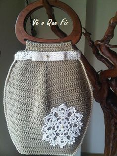 Vê O Que Fiz Crochet Handbags, Viera, Lunch Box, Facebook, Crochet Bags, Journals