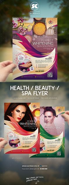 Buy Modern Beauty Flyer / Magazine Ads by shamcanggih on GraphicRiver. ITEM DESCRIPTIONS Beauty center flyer templates designed exclusively for spa company, beauty agency, marketing, promo. Ad Design, Flyer Design, Layout Design, Design Ideas, Graphic Design, Flyer Poster, Poster Art, Design Brochure, Brochure Layout