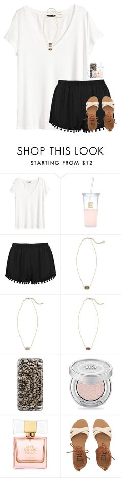 """idk if i like this..."" by theblonde07 ❤ liked on Polyvore featuring H&M, Kate Spade, Kendra Scott, Casetify, Urban Decay and Billabong"