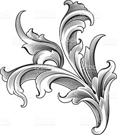Baroque Ornament royalty-free stock vector art