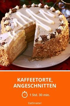 Kaffeetorte, angeschnitten - smarter - Zeit: 1 Std. 30 Min. | eatsmarter.de