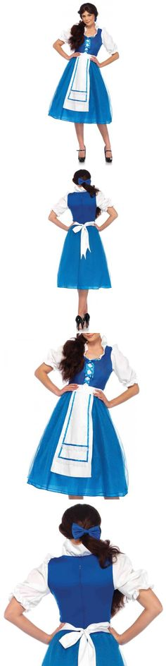 Women 53369 Belle Costume Blue Dress Adult Beauty And The Beast Halloween Fancy Dress -  sc 1 st  Pinterest & Women 53369: Disney Beauty And The Beast Belle Blue Dress Tween ...