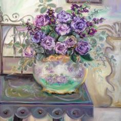 Morning Light, Lilac Roses 24x30