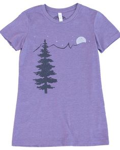 a87da774 Mountain & Stars T shirt, Soft Form Fitting Style for Nature Hikes or  Casual Days! - Small / Heather Blue