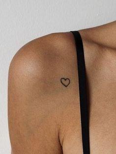Cute Little Tattoos, Tiny Tattoos For Girls, Cute Tattoos For Women, Cute Small Tattoos, Unique Small Tattoo, Small Heart Tattoos, Small Meaningful Tattoos, Tattoo Simple, Minimal Tattoo