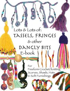 New #crochet ebook from RensFibreArt: Tassels, Fringes and Dangly Bits for Freeform Crochet