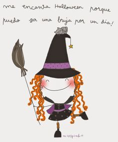 Halloween. By misspink Halloween Art, Holidays Halloween, Happy Halloween, Halloween Decorations, Halloween Witches, Halloween Illustration, Funny Illustration, Illustrations, Painting For Kids