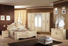 Schlafzimmer Amalfi in Beige 6 türig Luxus italienische Möbel aus Italien | eBay
