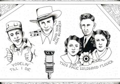 Country legends by Sylvester boom